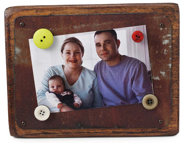 Reclaimed Tin & Wood Magnetic Frame | UncommonGoods