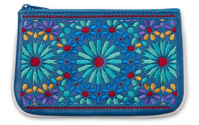 Marrakesh Embroidered Mini Pouch - UncommonGoods