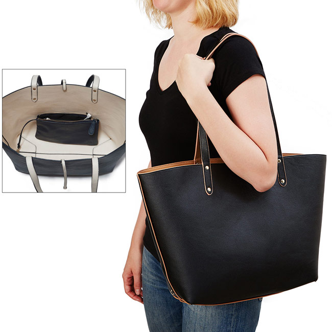 Smartphone Charging Reversible Tote - UncommonGoods