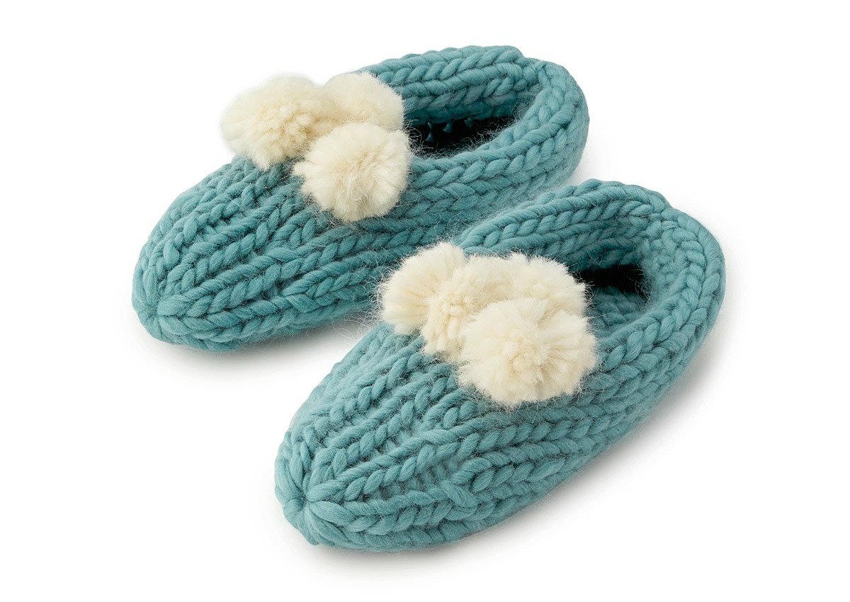 Create Your Own Pom Pom Slippers | UncommonGoods