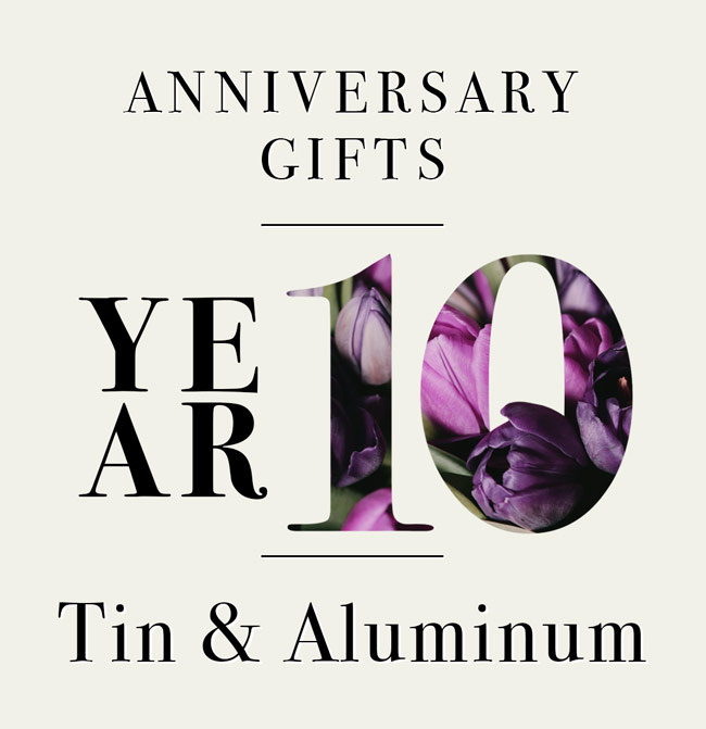 Our Guide To 10th Anniversary Gifts In Your Elements Tin And