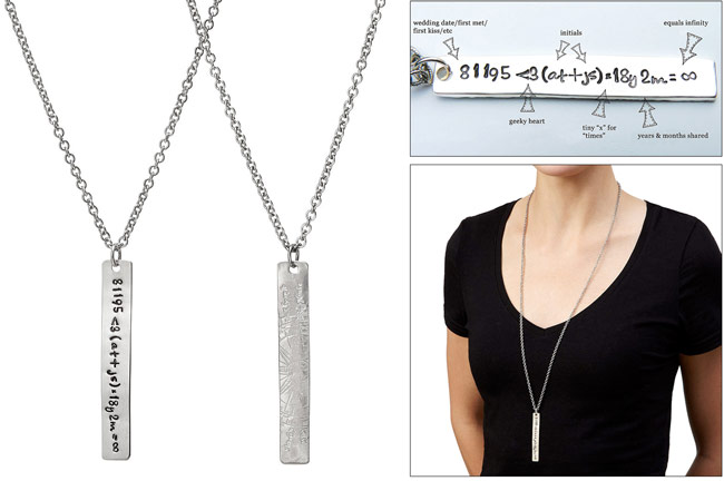 Love Equation Necklace | UncommonGoods