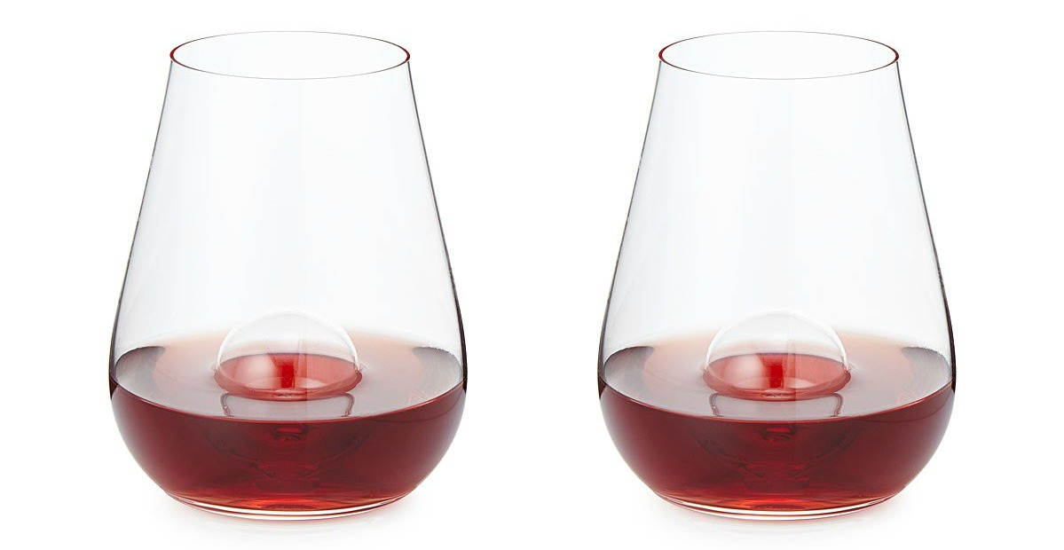 Crystal Aerating Stemless Wine Glass Set | UncommonGoods