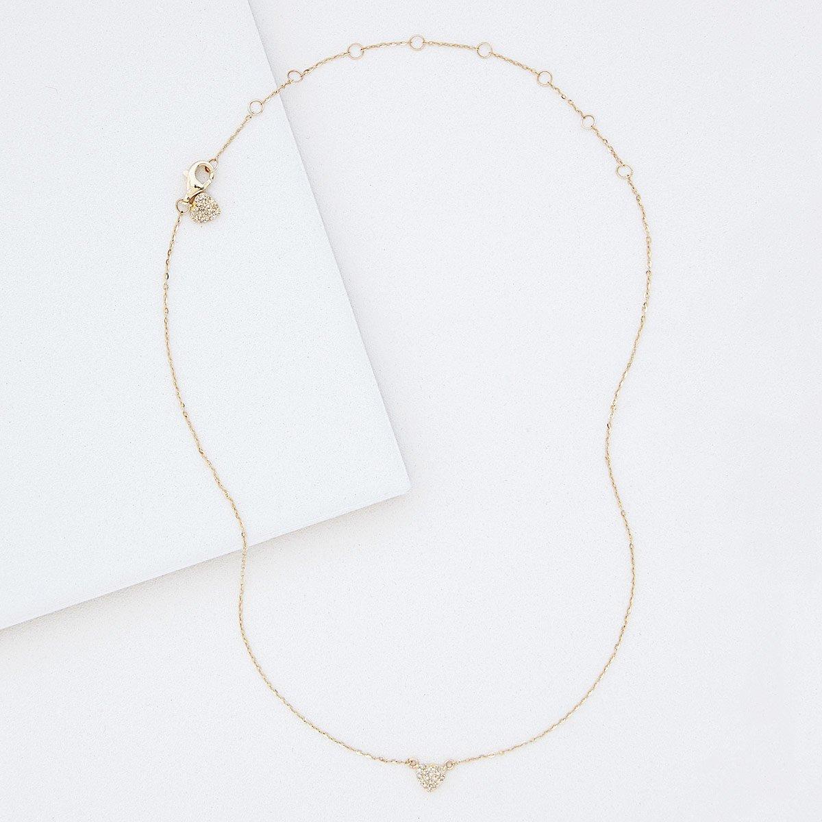 Double Heart Diamond Necklace | UncommonGoods