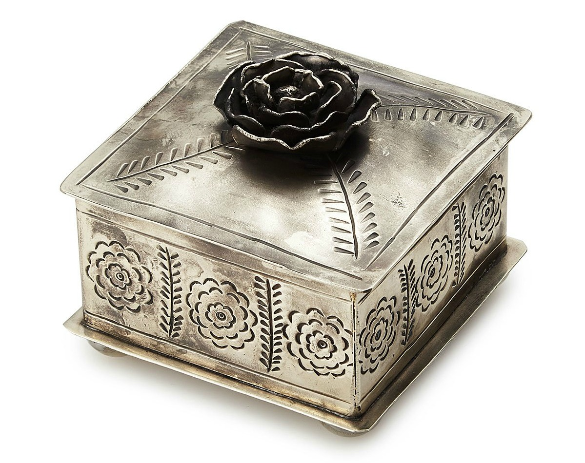 Hand-Etched Rose Jewelry Box | UncommonGoods