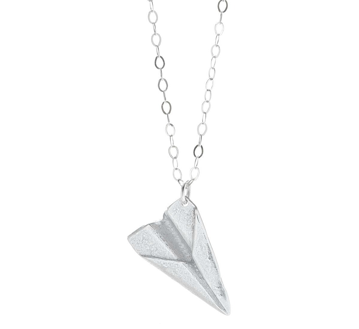 Paper Airplane Necklace | UncommonGoods