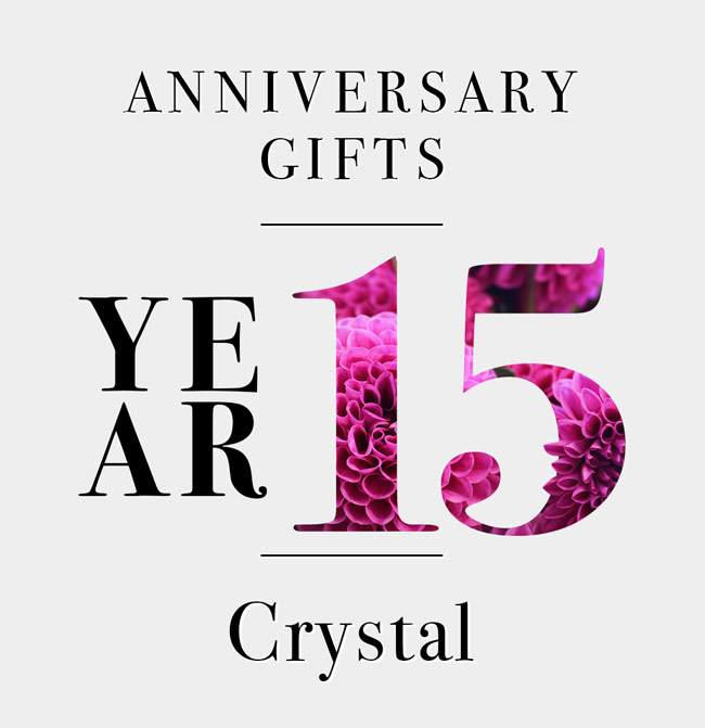 Our Guide to 15th Anniversary Gifts Crystal Clear  sc 1 st  UncommonGoods & Our Guide to 15th Anniversary Gifts: Crystal Clear -The Goods