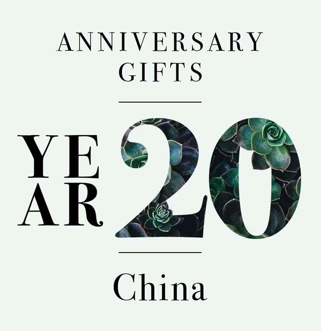 our guide to 20th anniversary gifts three cheers for china the goods