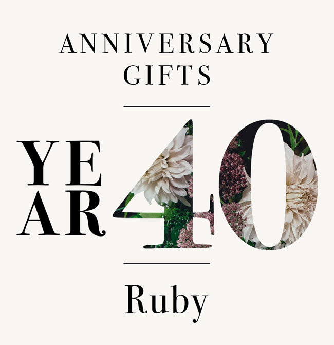 Our Guide To 40th Anniversary Gifts Red As A Ruby The Goods