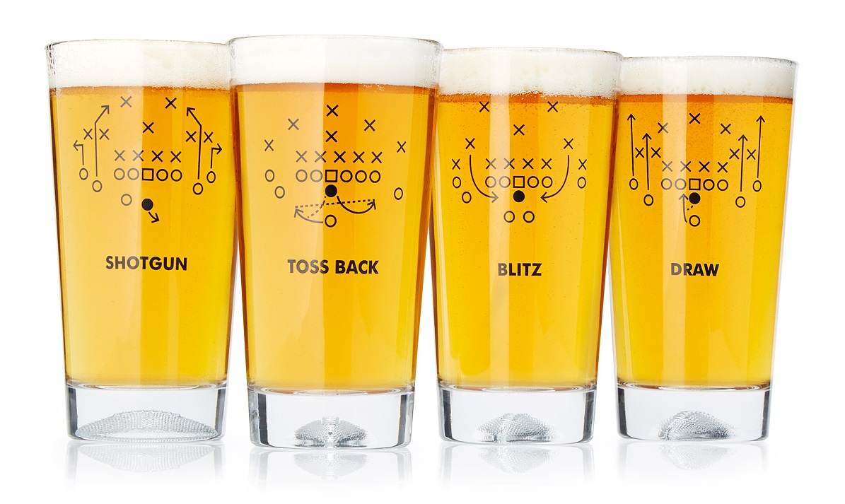 Football Playbook Glasses | UncommonGoods