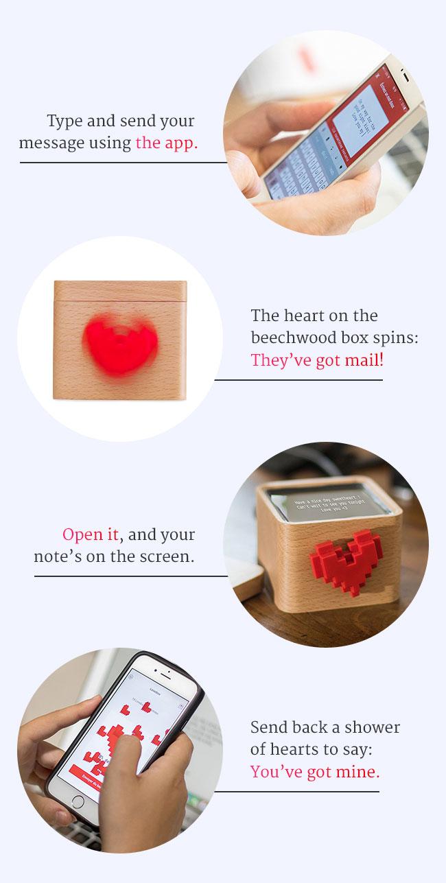 Lovebox Spinning Heart Messenger | UncommonGoods
