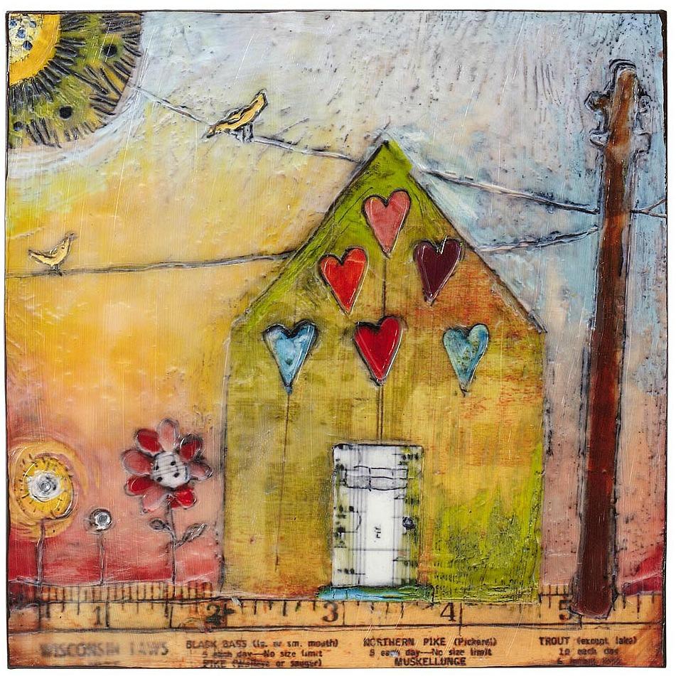 House Ruled By Love Art Block