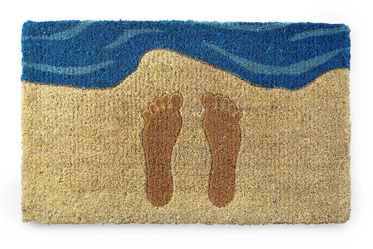 Footprints in the Sand Doormat   UncommonGoods