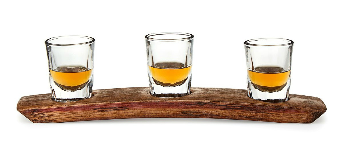 Reclaimed Whiskey Barrel Tasting Flight | UncommonGoods