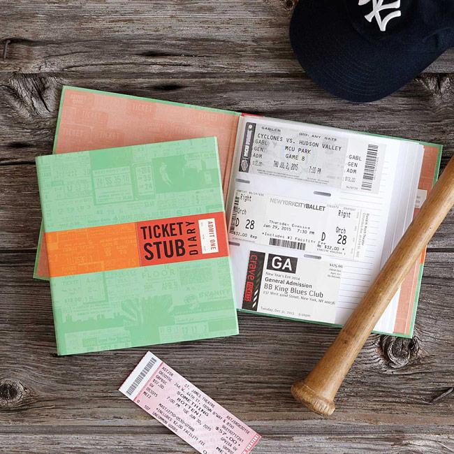 Ticket Stub Diary | UncommonGoods
