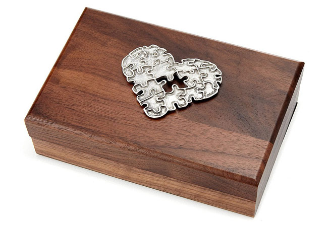 Puzzle Heart Box | UncommonGoods
