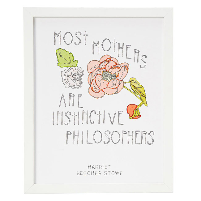 Most Mothers Are Instinctive Philosophers | UncommonGoods