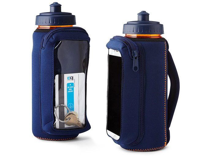 Fitness Bottle with Phone Holding Sleeve | UncommonGoods