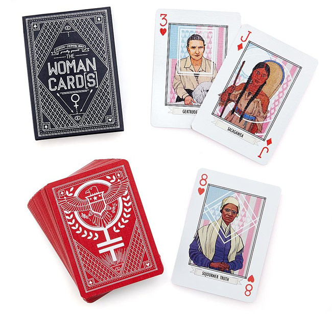 """Woman Card"" Playing Deck 