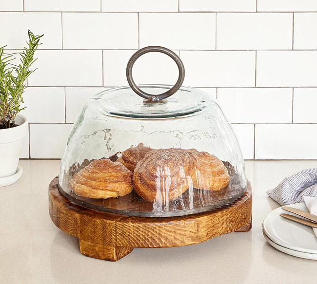 Reclaimed Serving Board and Glass Cloche | UncommonGoods