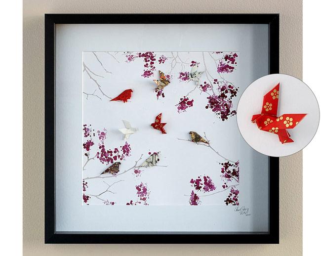 Cherry Blossom Origami Art | UncommonGoods