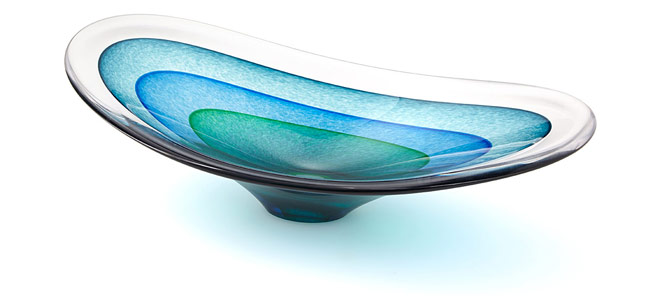 Saturn Glass Sculptural Bowl | UncommonGoods