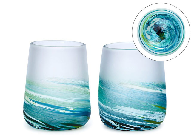 Sea Spray Wine Glass Set | UncommonGoods