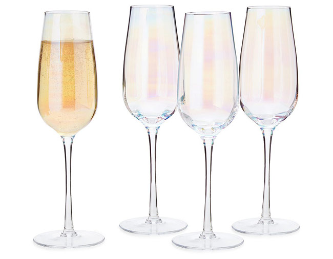 Iridescent Champagne Flute Set | UncommonGoods