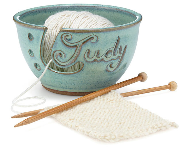 Personalized Yarn Bowl | UncommonGoods