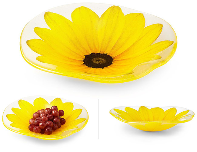 Wavy Blackeyed Susan Bowl | UncommonGoods
