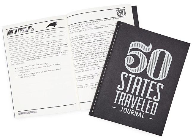 50 States Traveled Journal | UncommonGoods