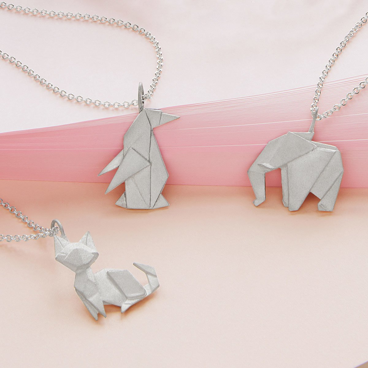 Origami Menagerie Necklaces | UncommonGoods