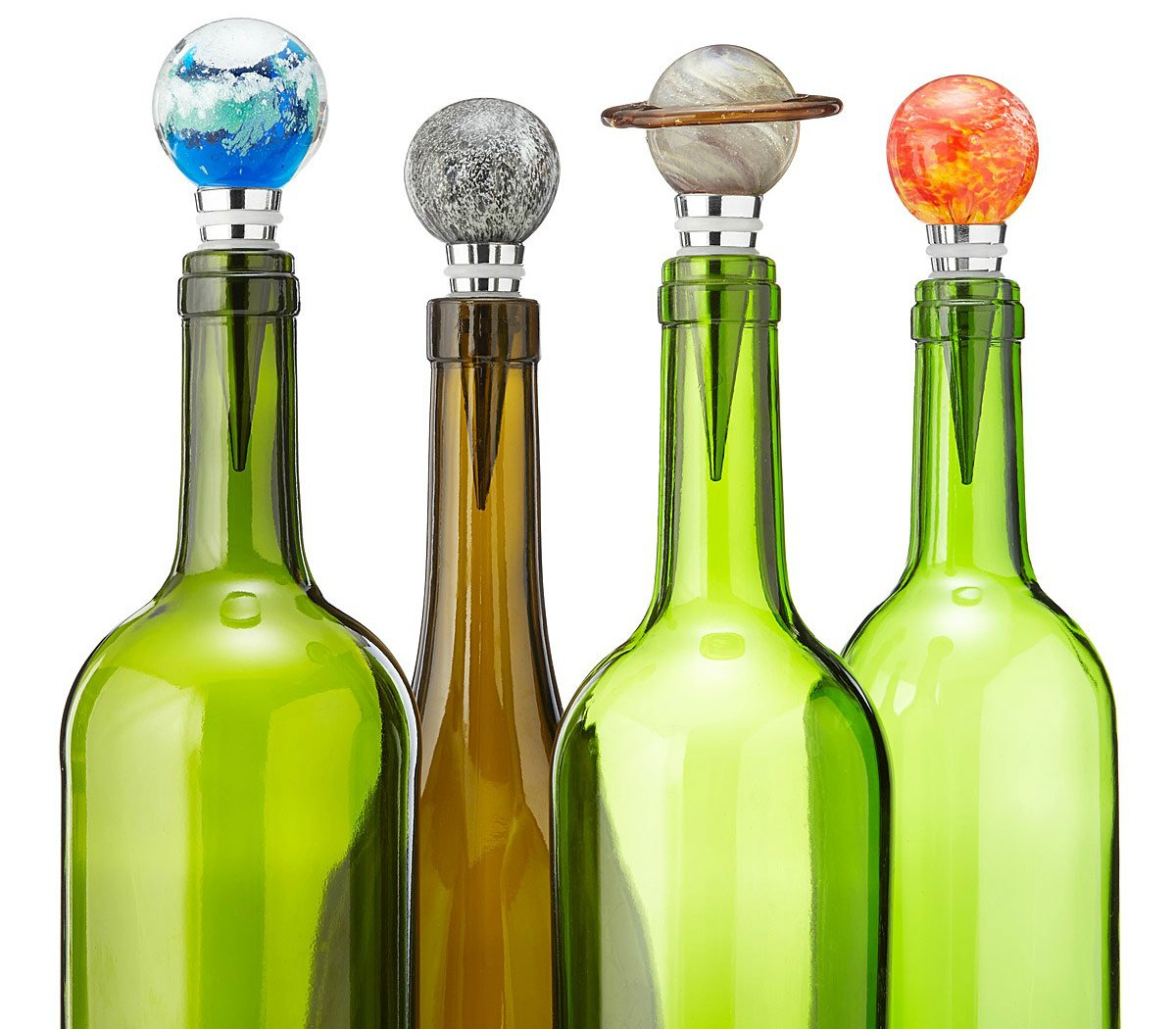 Solar System Glow-in-the-Dark Bottle Stoppers | UncommonGoods