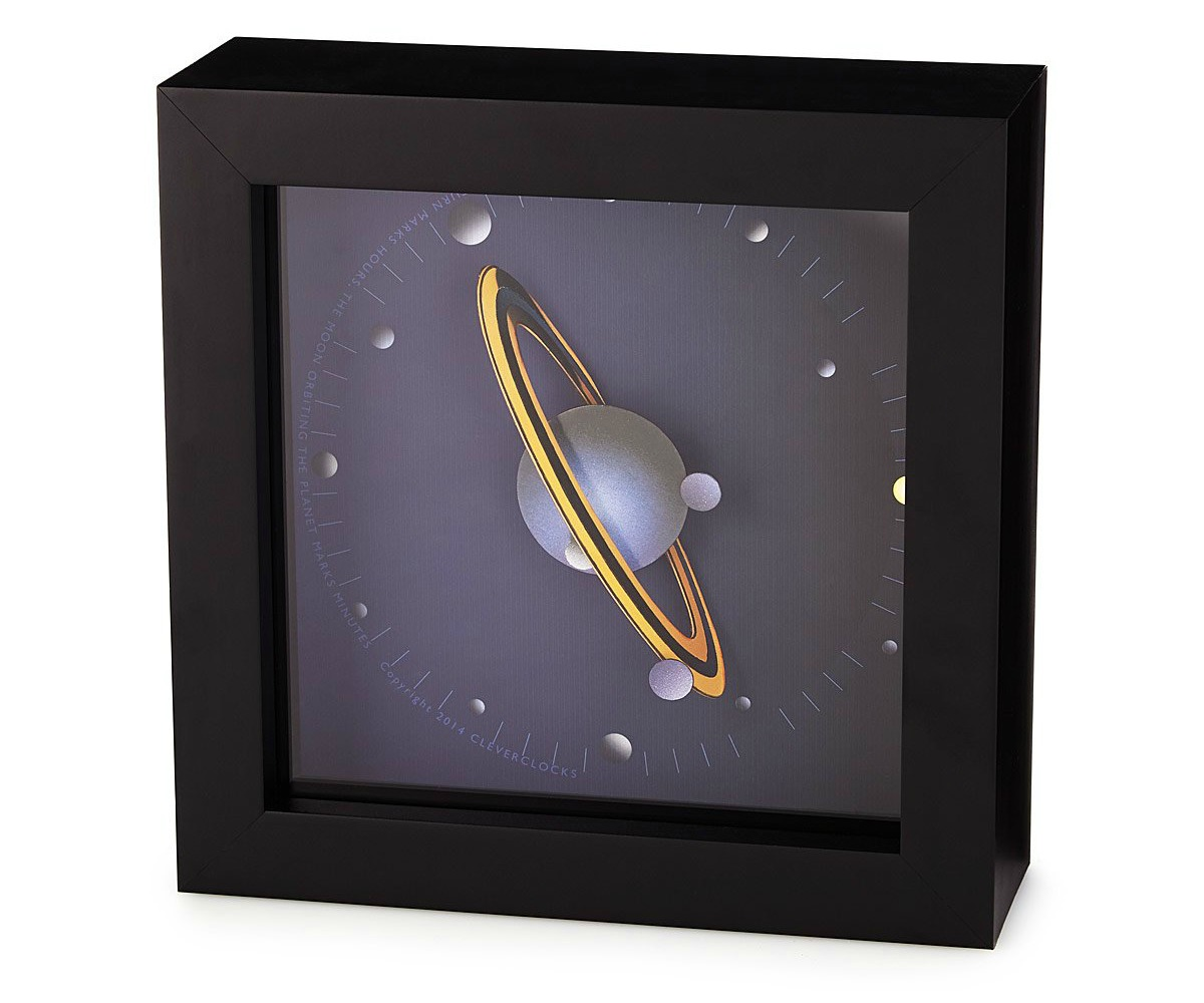 Spinning Saturn Clock | UncommonGoods
