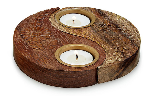Yin Yang Tealight Holder | UncommonGoods