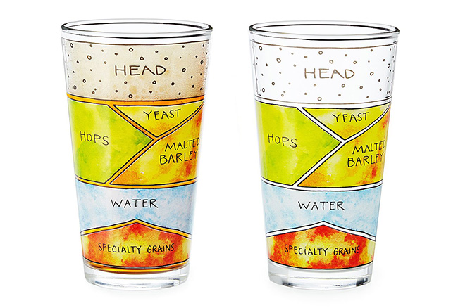 Beer Diagram Glassware | UncommonGoods