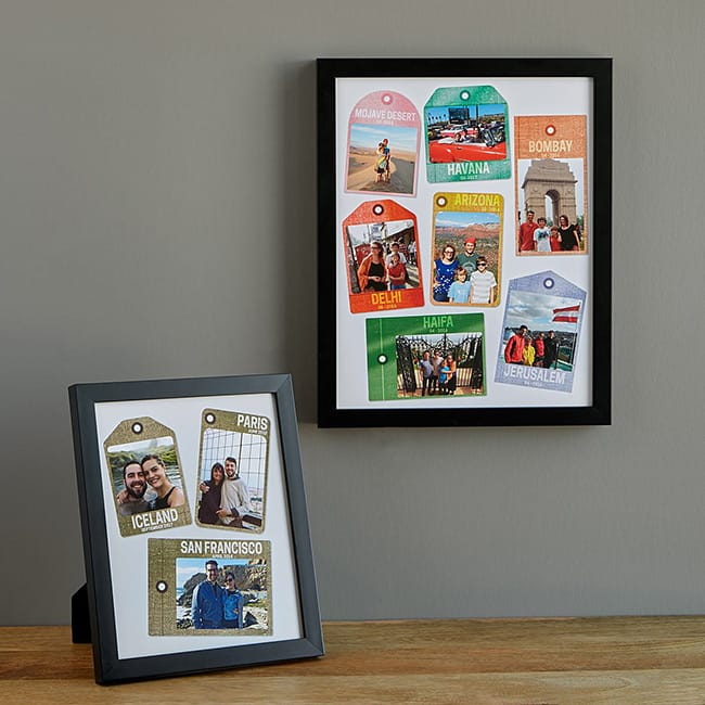 Personalized Travel Tags Photo Art | UncommonGoods