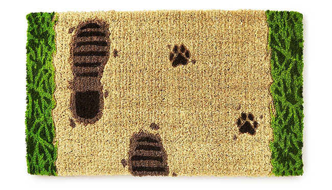 Footprints in the Mud Doormat | UncommonGoods