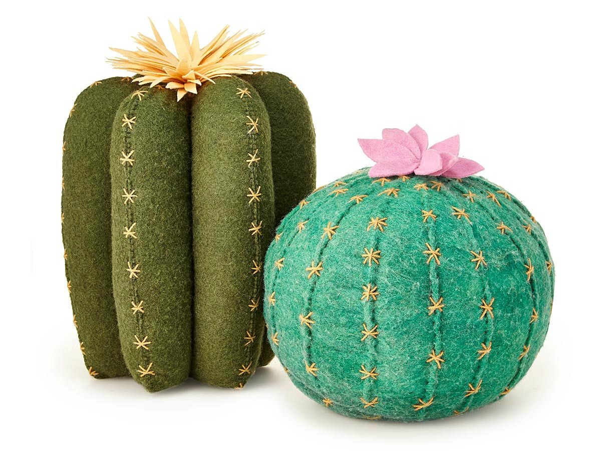 Cactus Bloom Throw Pillows | UncommonGoods