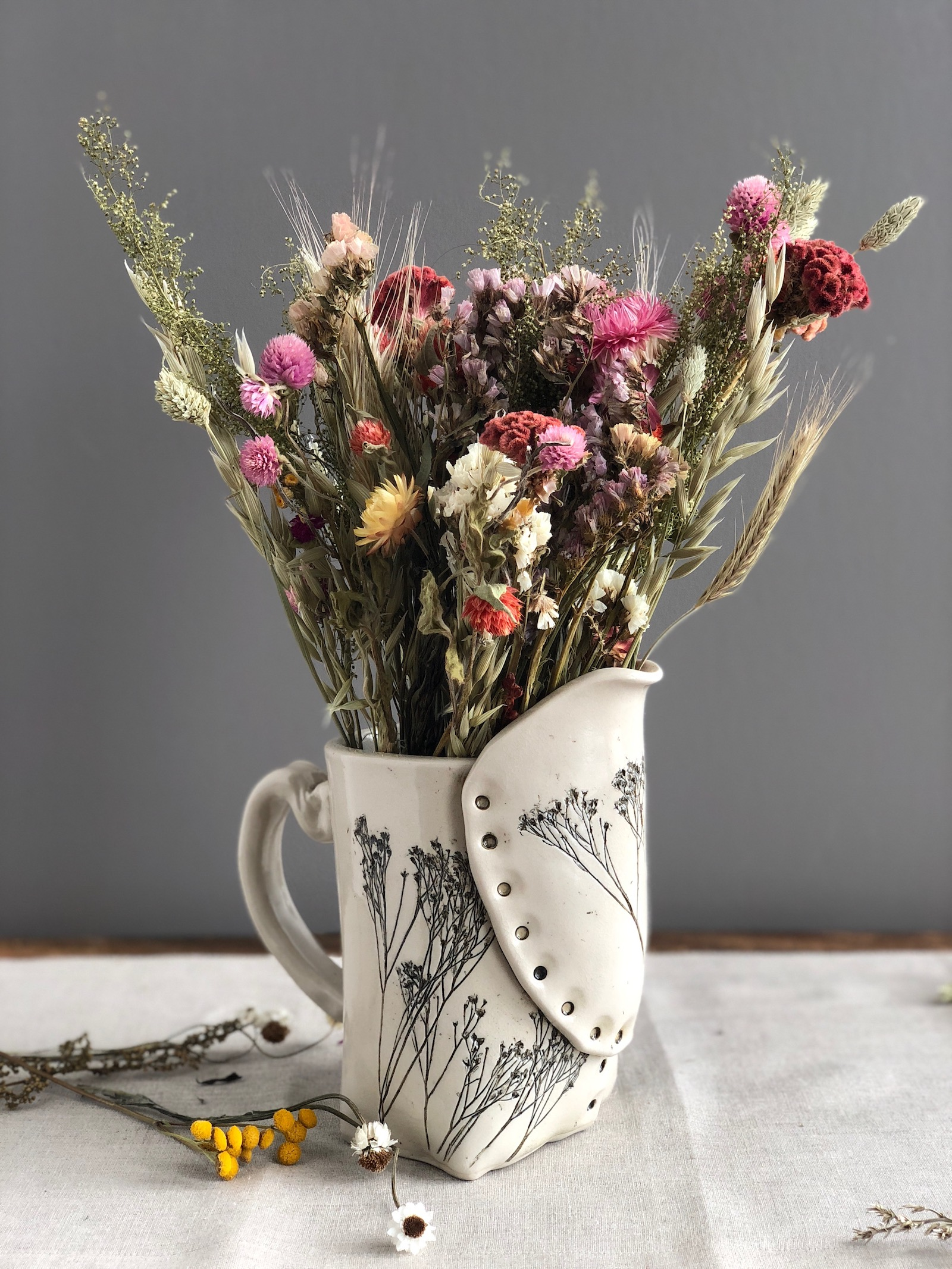 Pressed Wildflower Pitcher | UncommonGoods