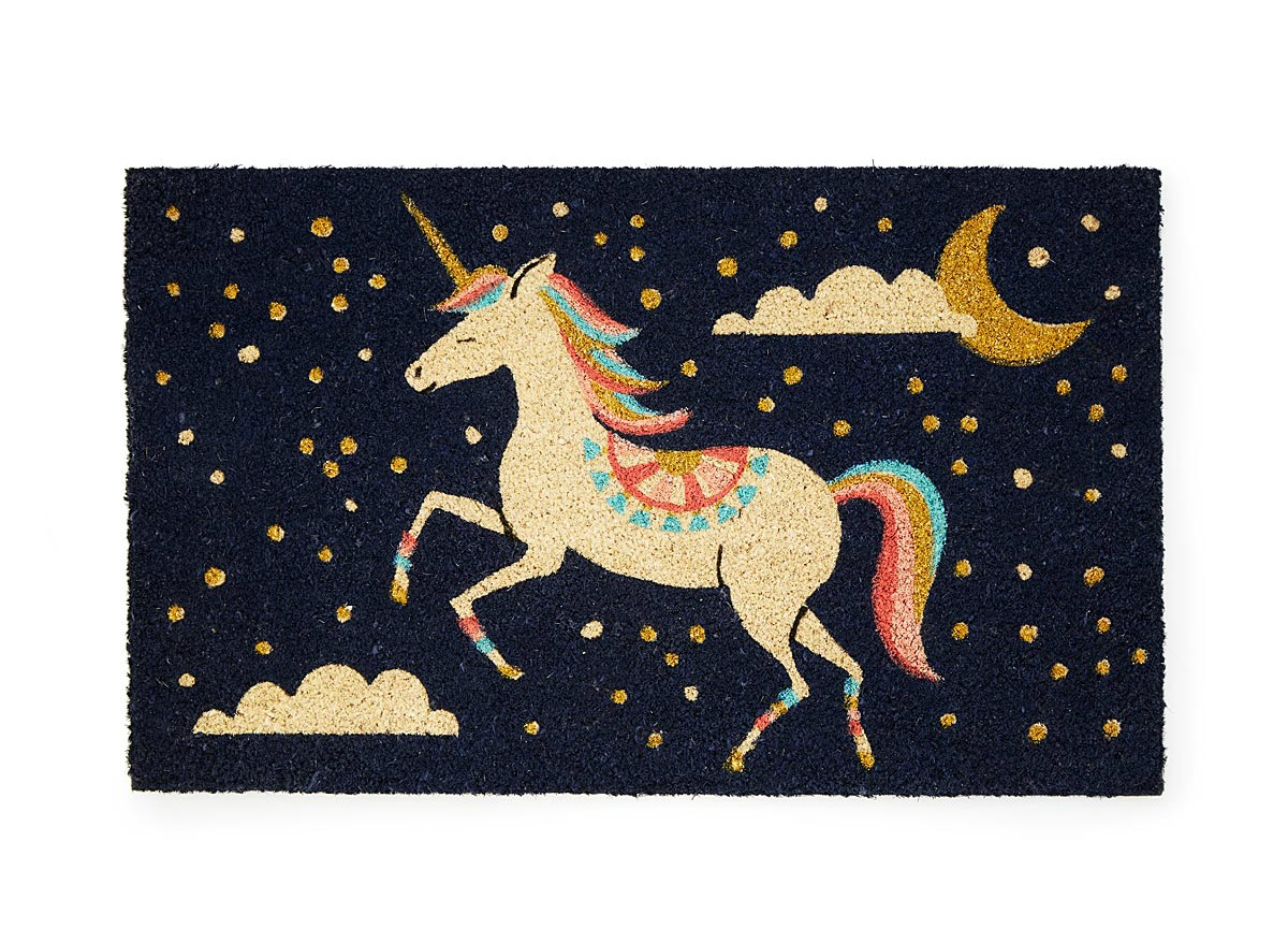 Pearl the Unicorn Doormat | UncommonGoods