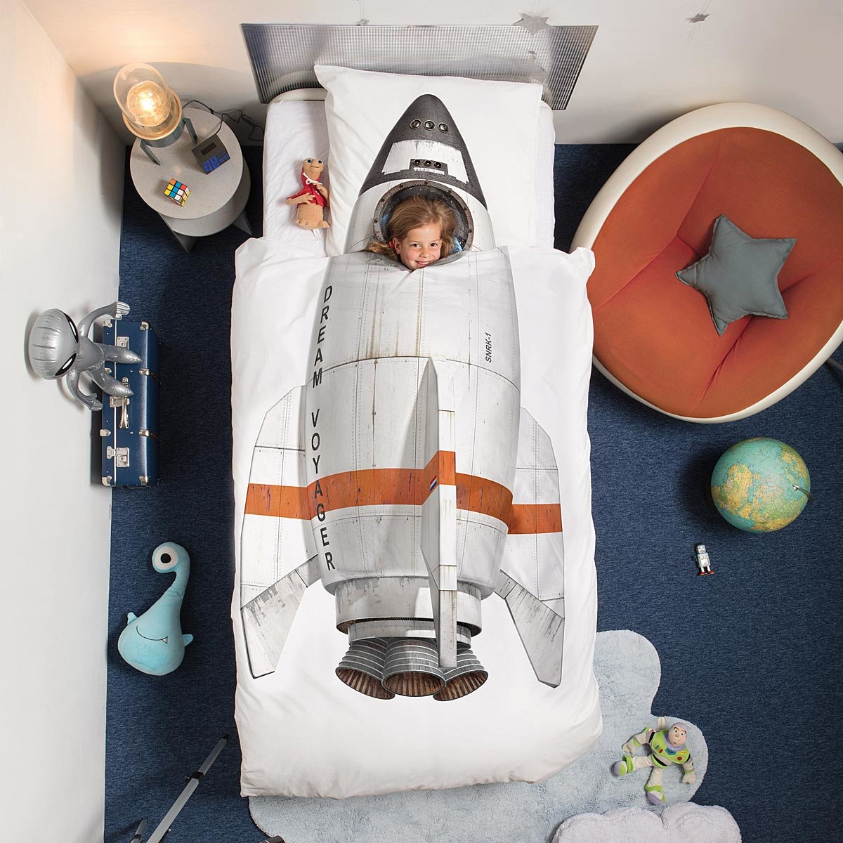 Rocket Duvet and Pillowcase Set | UncommonGoods