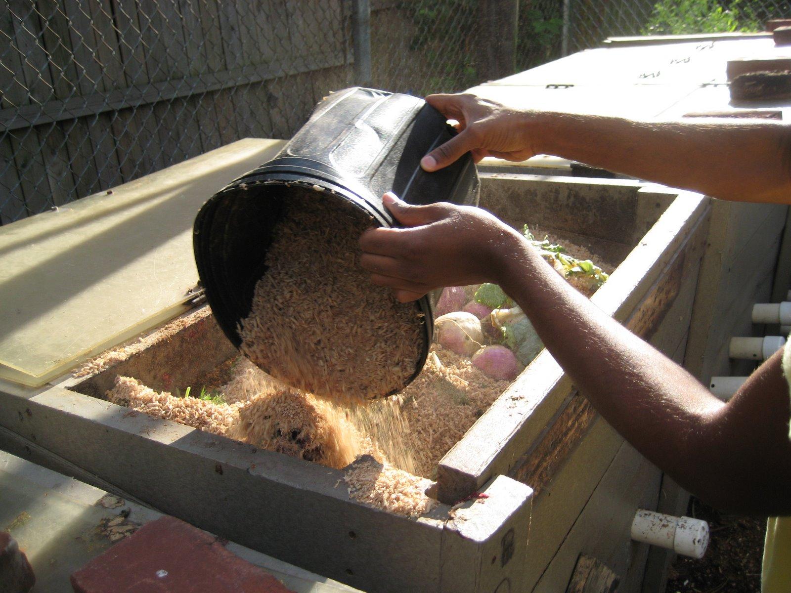 Adding sawdust