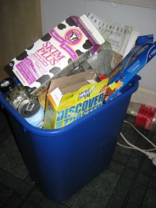 Recycling Bin May Day Baskets