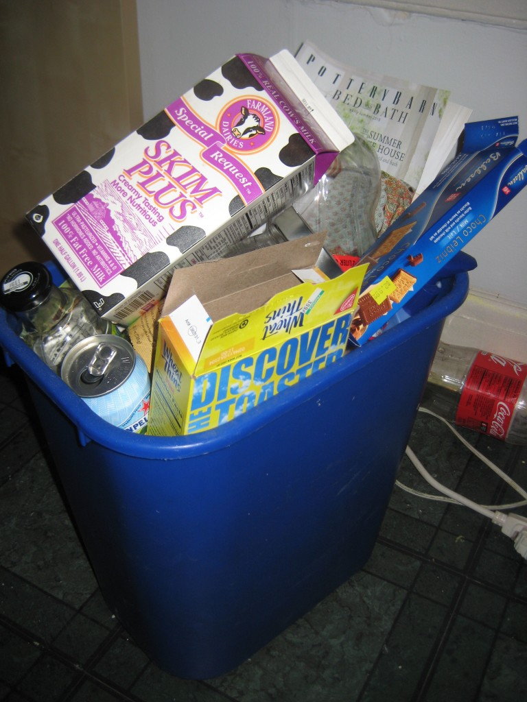 Recycling Bin May Day Baskets