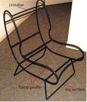 Seatbelt chair frame