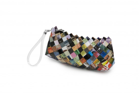 Recycled Magazine Clutch