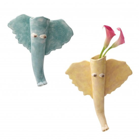 Elephant Wall Vases
