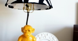 monkey lamp after