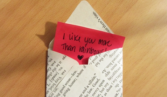 Handmade Paperback Valentines